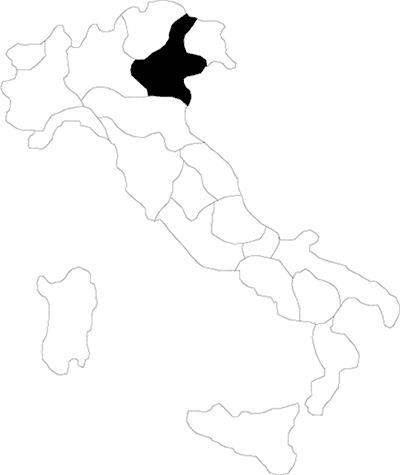 Veneto region map