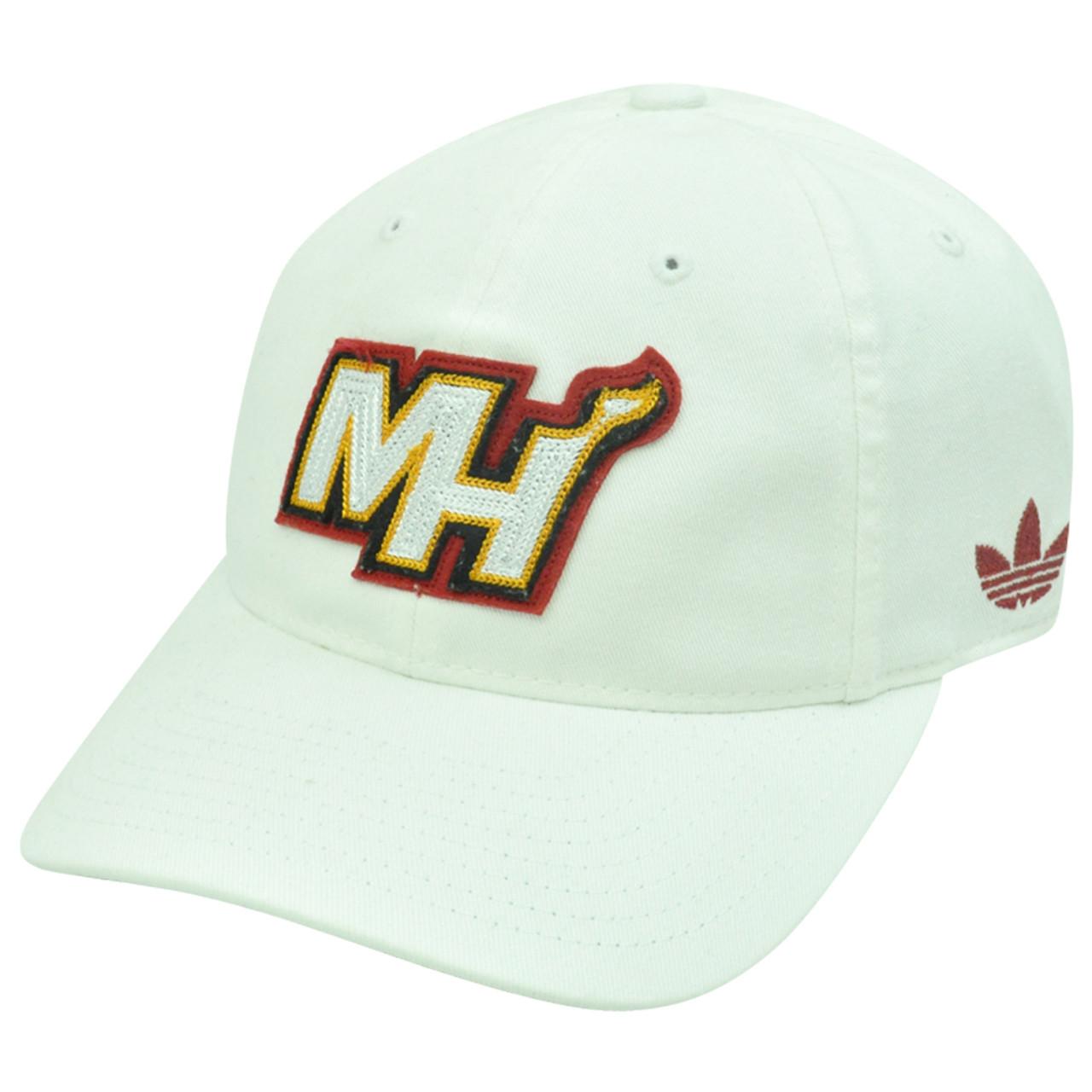 NBA Miami Heat Adidas ER23 Slope L XL Size Flex Fit Stretch Garment Wash Hat 270dc7bc6