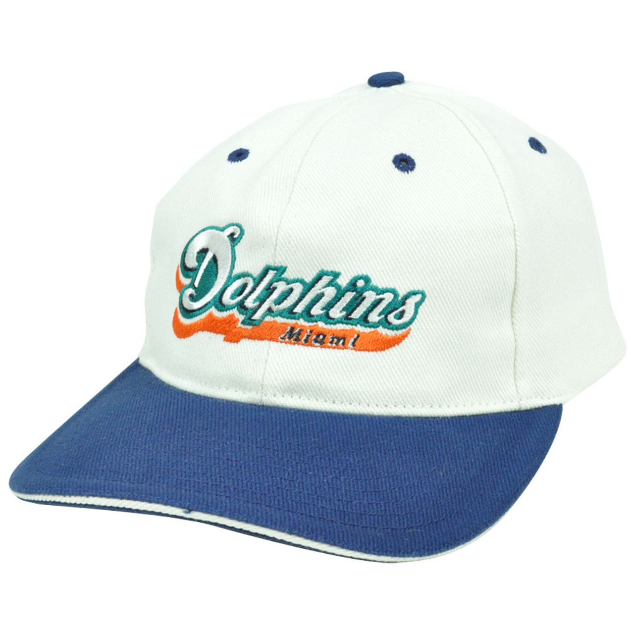 ee5e61ce NFL Miami Dolphins Vintage Old School Flat Snapback Sports Specialties Hat  Cap - Sinbad Sports Store