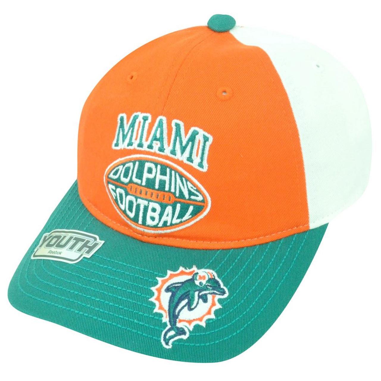 NFL Miami Dolphins Reebok Youth Adjustable Velcro Tricolor Orange Cap Hat  DH1675 - Sinbad Sports Store 3342b79d3