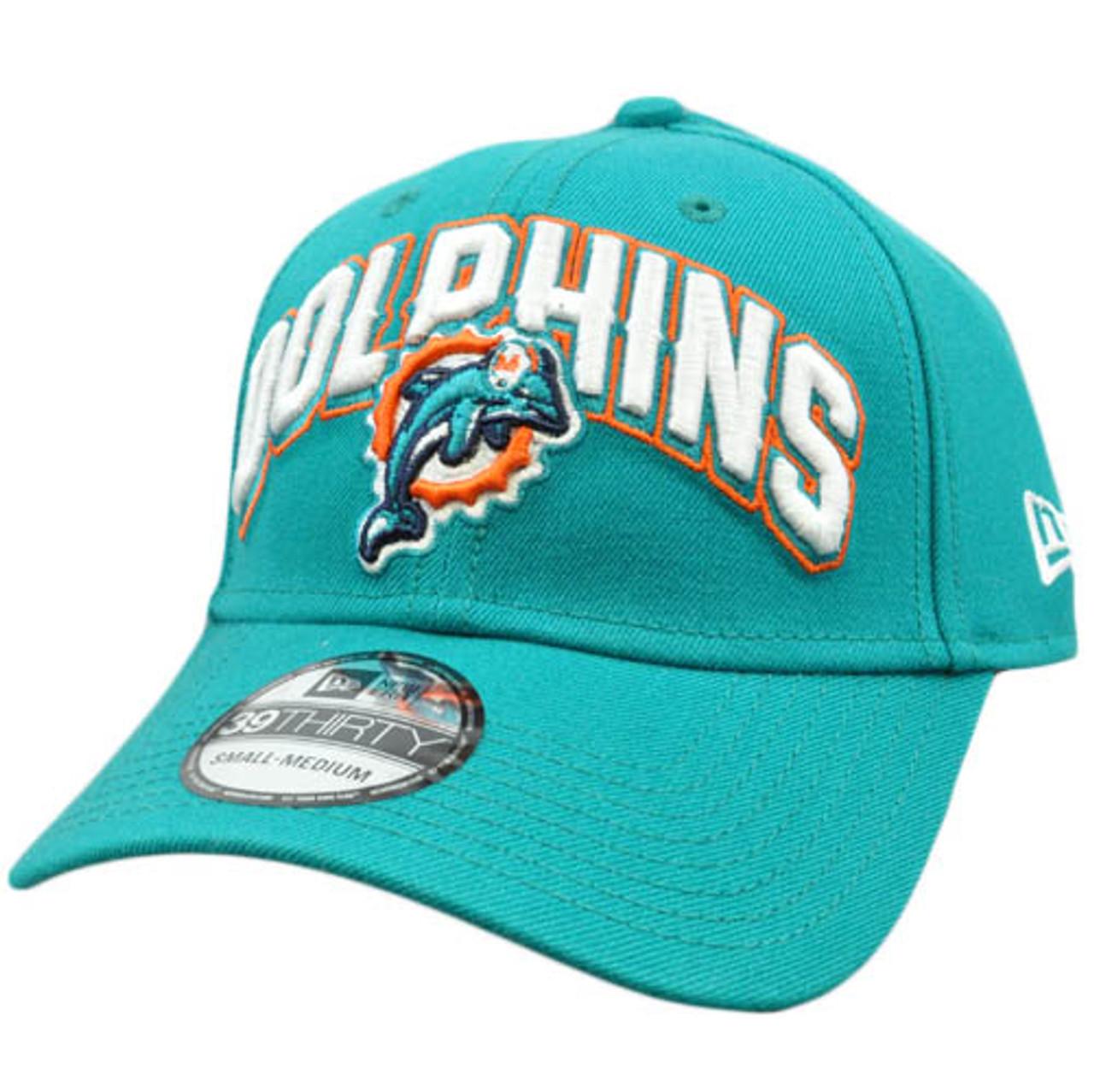 buy online 66633 74519 New Era 3930 39Thirty 2012 Black Flex Fit Cap Hat Small NFL Miami Dolphins