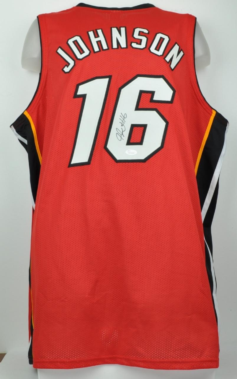 best loved 84de1 ac522 NBA Miami Heat James Johnson 16 Signed Autographed XL Red Replica Jersey  JSA Mens