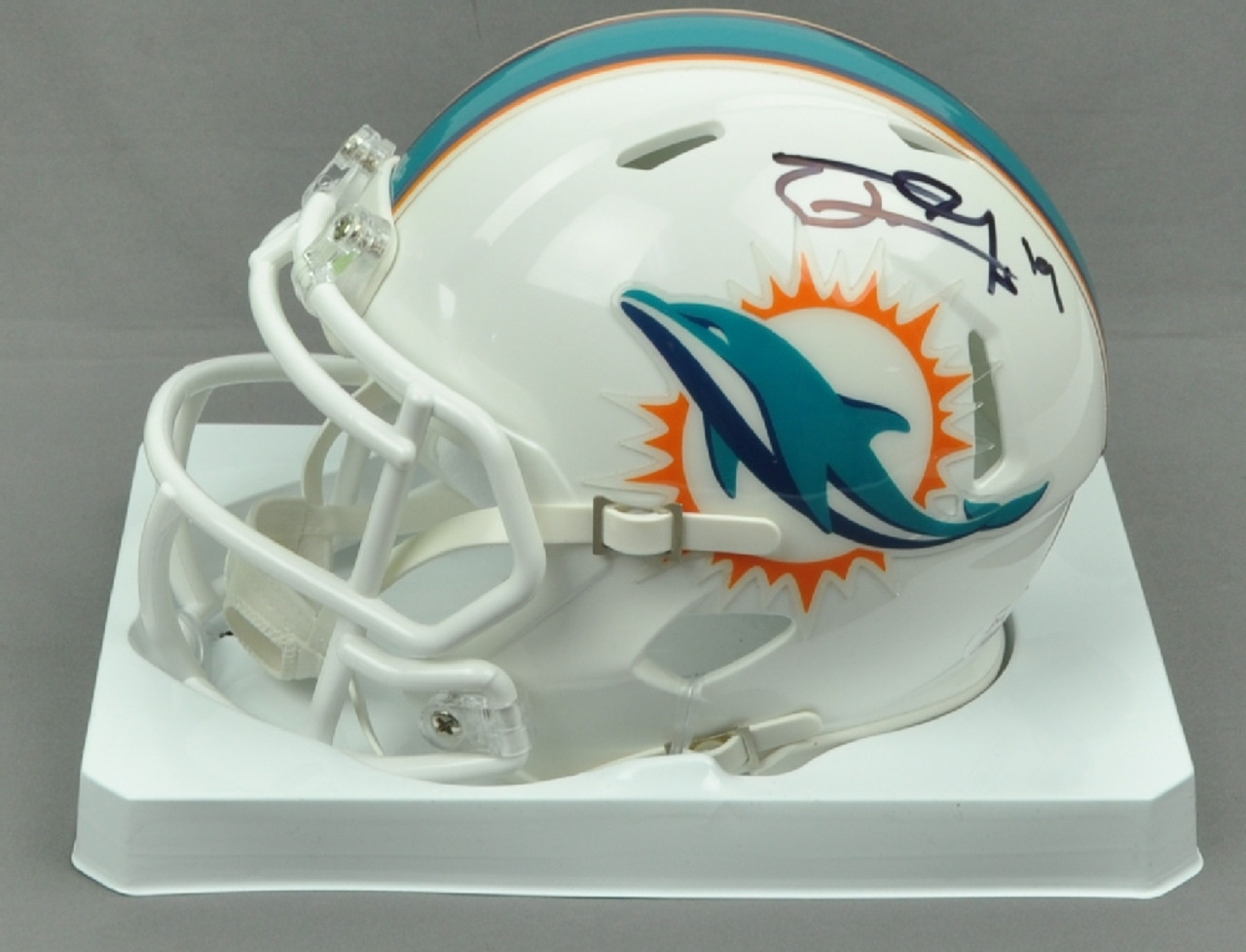 7efd2352 NFL Miami Dolphins Running Back Jakeem Grant 19 Signed Autographed  Inscribed Riddell Mini Helmet JSA