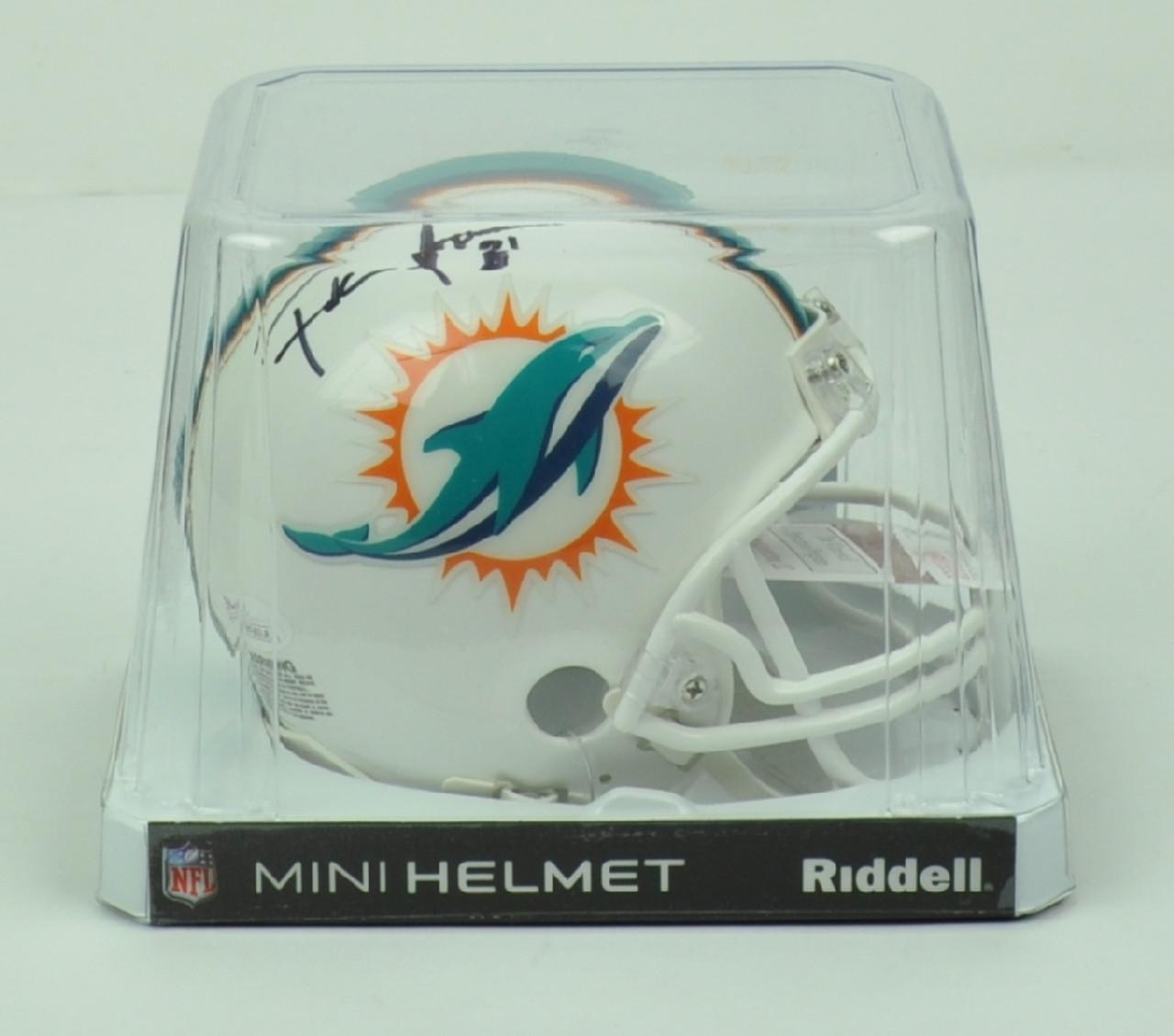 NFL Miami Dolphins Running Back Frank Gore 3 Signed Autographed Riddell  Mini Helmet JSA b4dcbc5e2