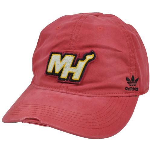 NBA Adidas Miami Heat Distressed Garment Wash Flex Fit Hat Cap EP52Z Large  XLRG 540271b9e