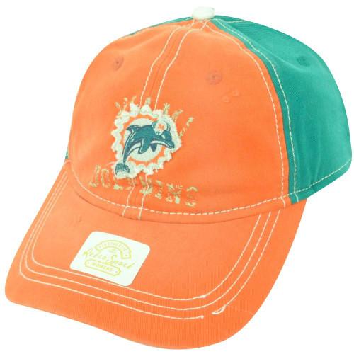 NFL Miami Dolphins Reebok Women s Clip Buckle Retro Orange Green Cap Hat  DH1612 41c0b9b46d35