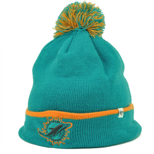 NFL Miami Dolphins Reebok Official Youth Adjustable Velcro Logo Green Visor  Hat.  11.99. Miami Dolphins  47 Brand Forty Seven Cuffed Pom Pom Knit  Beanie ... f7952784a