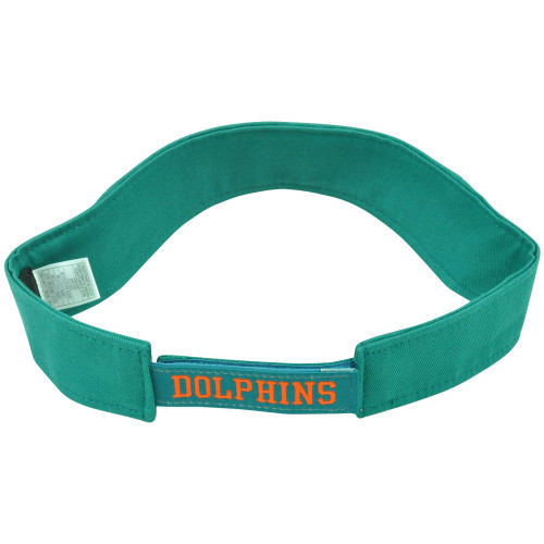... NFL Miami Dolphins Reebok Official Youth Adjustable Velcro Logo Green  Visor Hat a213e4323