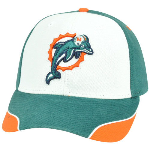 NFL Adjustable Velcro Curved Bill X2507 Construct Miami Dolphins Hat ... a2bae89e3