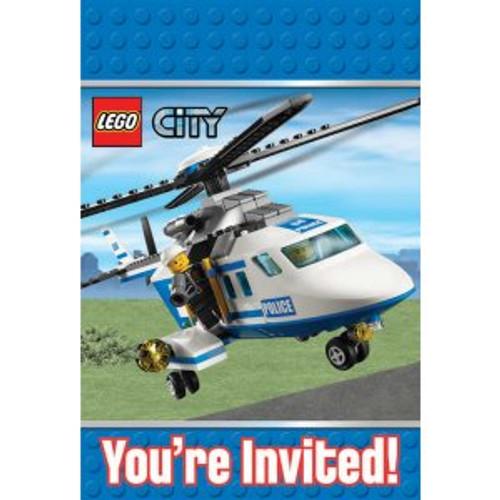 LEGO City Invitation Cards Envelopes