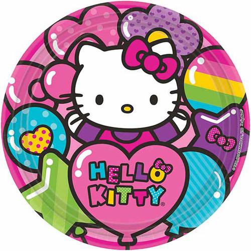Hello Kitty Rainbow 9 Dinner Plates