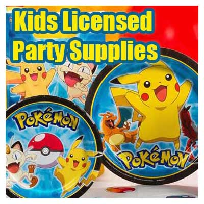 Kids Licensed Birthday Party Supplies