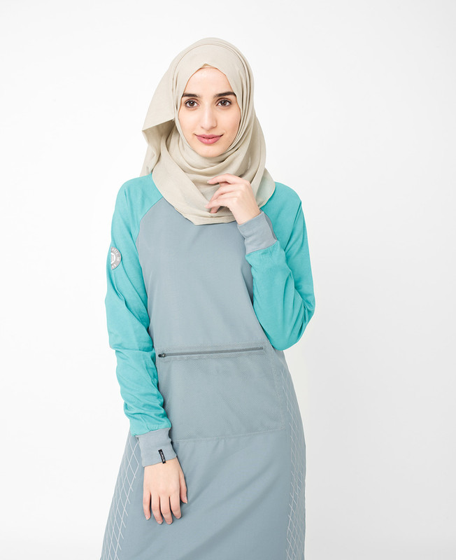 Grey Monochrome Jilbab