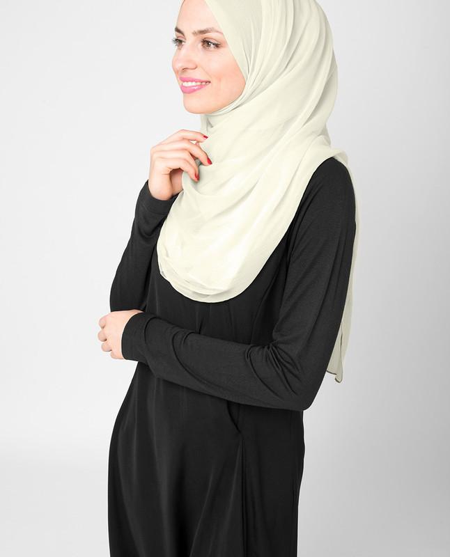 Bone White PolyChiffon Hijab