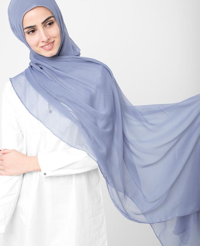 Tempest Purple Pinless PolyChiffon Hijab