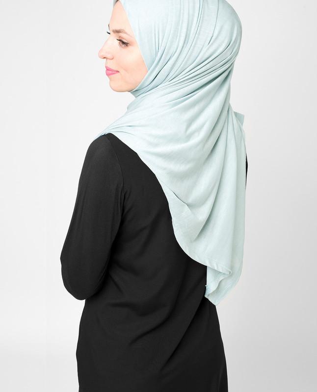 Pearl Blue Viscose Jersey Hijab