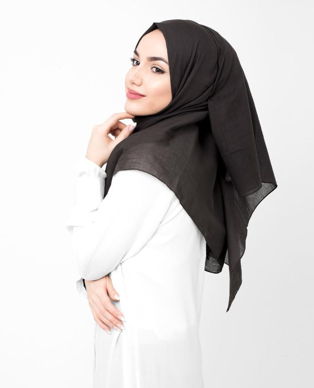 Coffee Bean Brown Cotton Voile Hijab
