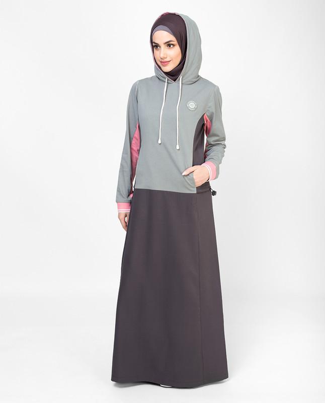 Grey Sporty Jilbab