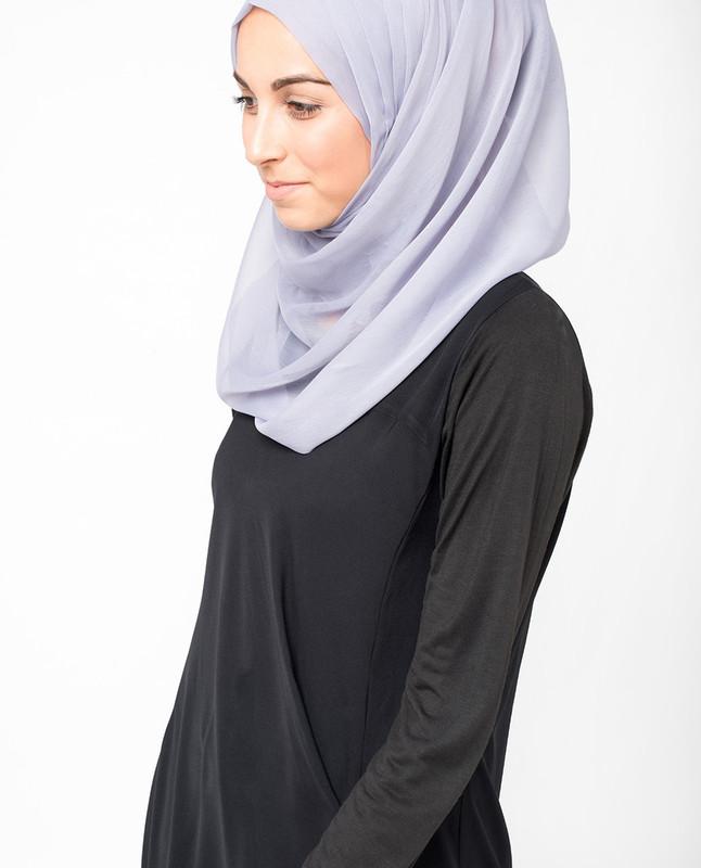 Misty Lilac Polychiffon Hijab