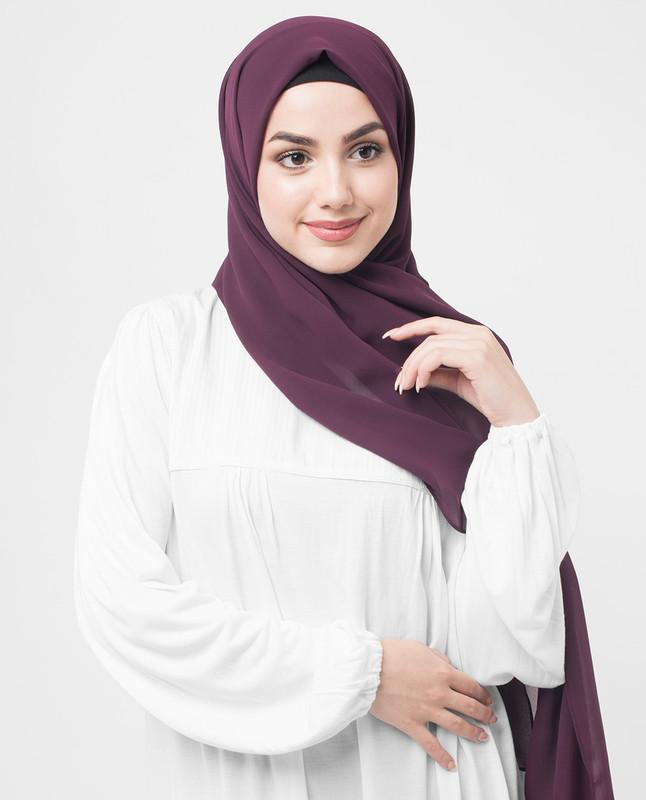 Winetasting Poly Georgette Hijab