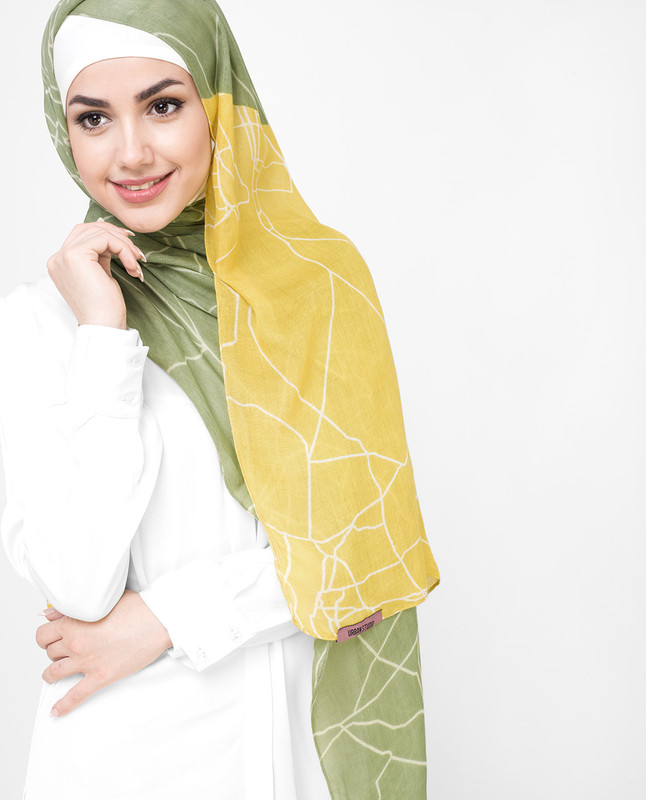 Yellow Mustard Cotton Voil Hijab