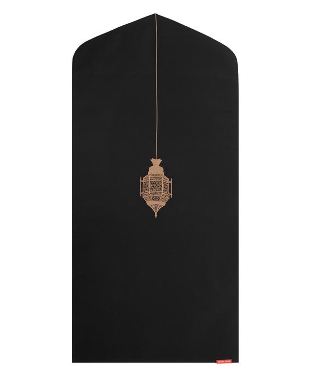 Islamic lantern arch-shaped prayer mat rug
