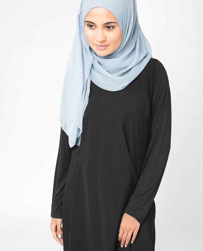 Ashley Blue PolyChiffon Hijab
