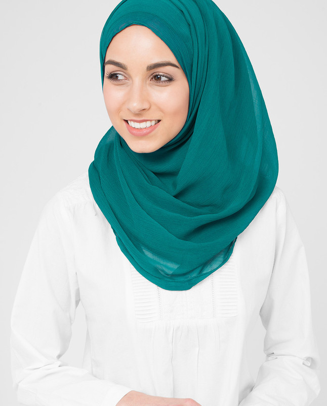 Harbor Blue PolyChiffon Hijab
