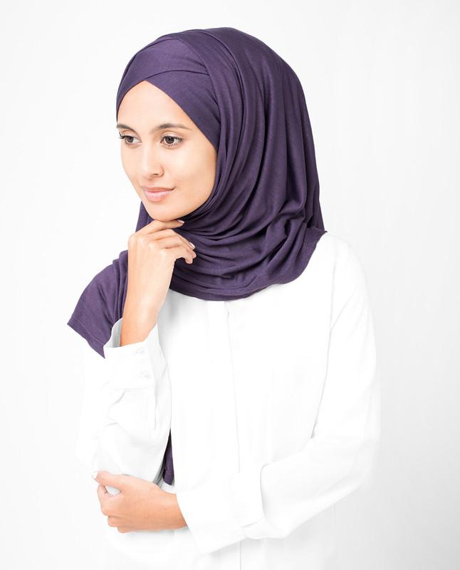 Mulled Grape Purple Viscose Jersey Hijab
