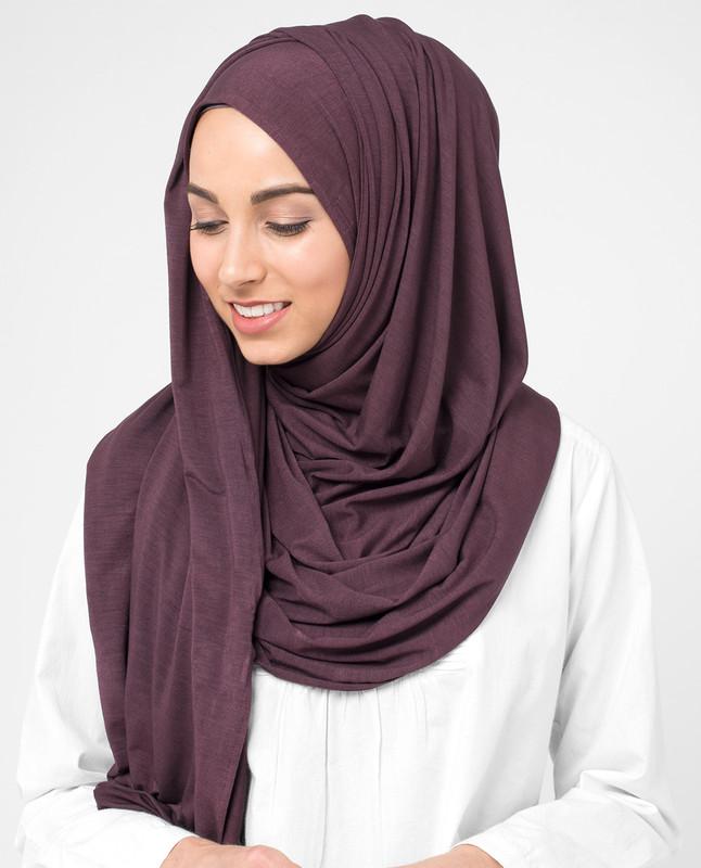 Plum Wine Red Viscose Jersey Hijab