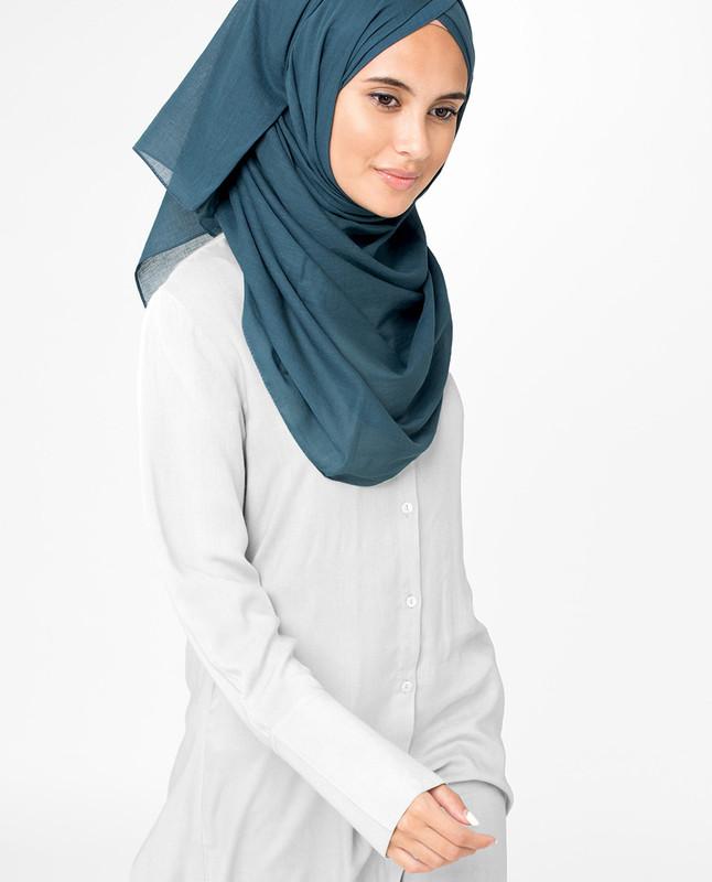 Midnight Navy Voile Hijab