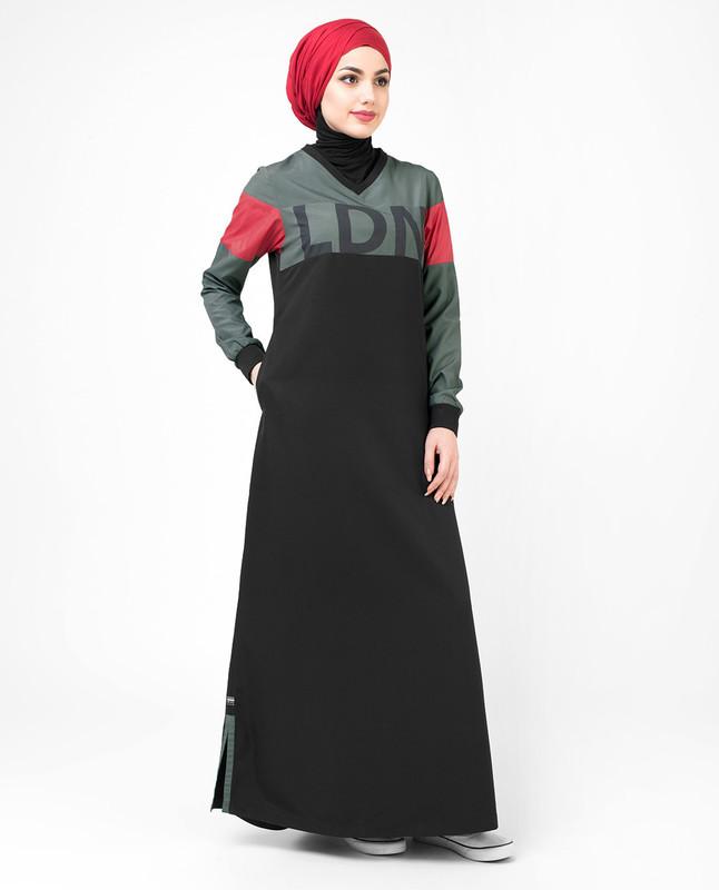 The LDN Print Black Jilbab