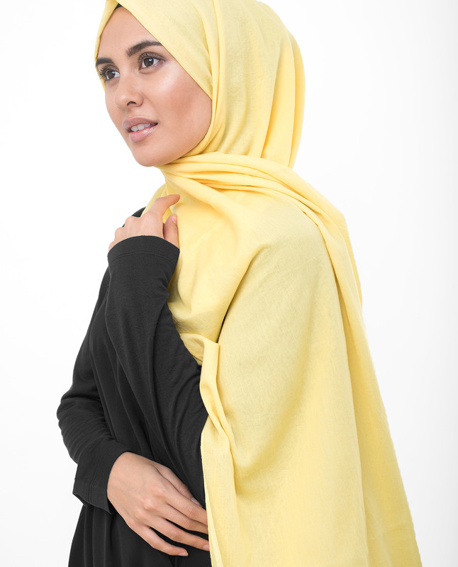 Goldfinch Yellow Cotton Voile Scarf