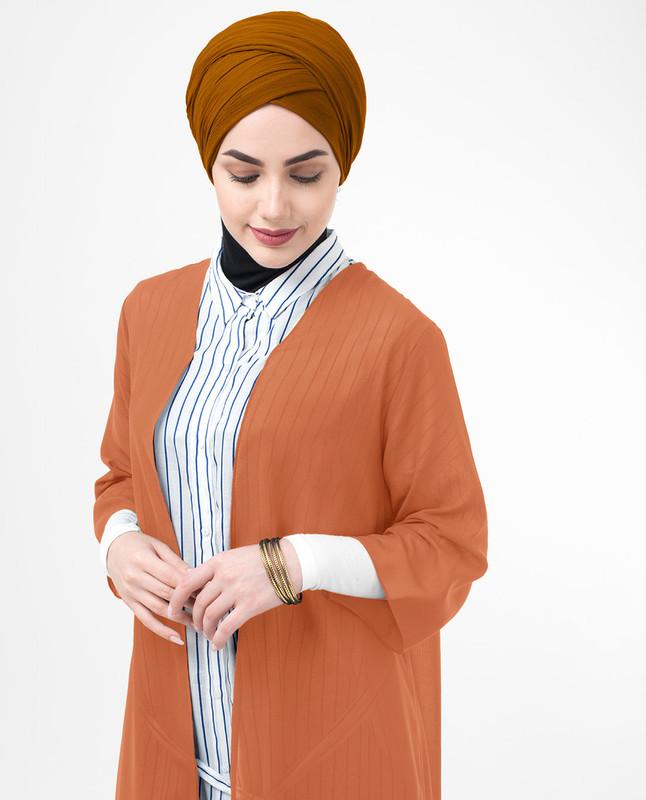 Long Sheer Apricot Orange Kimono