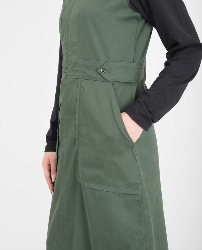 Front zip green jilbab abaya