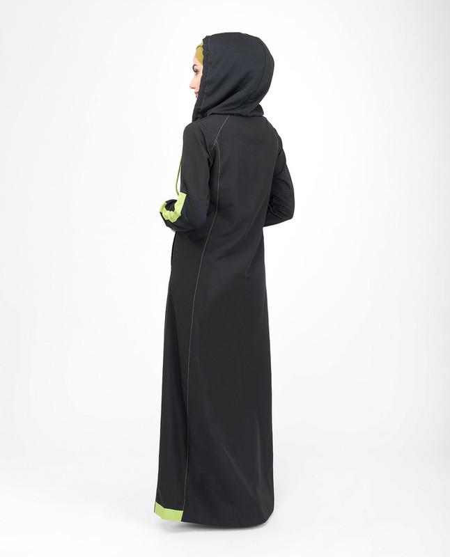 Casual sporty hooded jilbab abaya