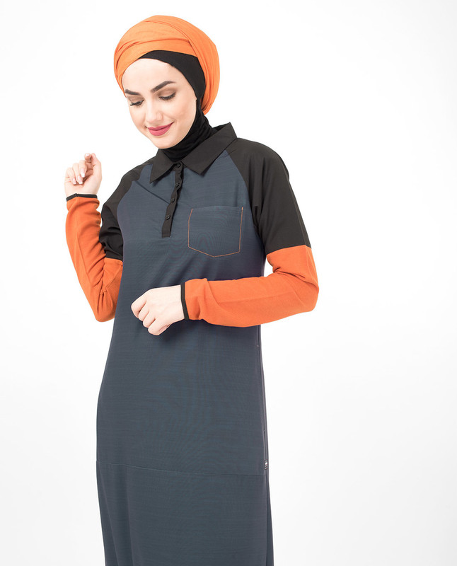 Orange jilbab abaya