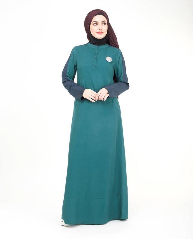 Teal green abaya jilbab