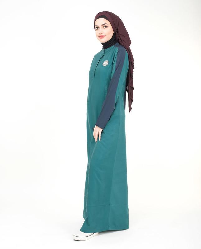 Polyester green abaya jilbab