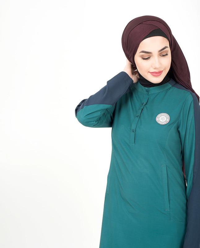 Front neck button jilbab abaya