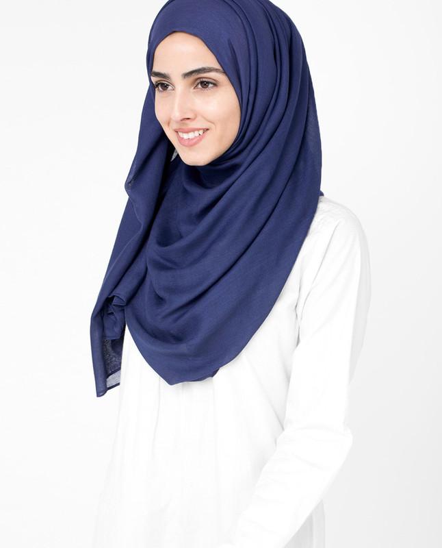 Hijab blue dress scarf