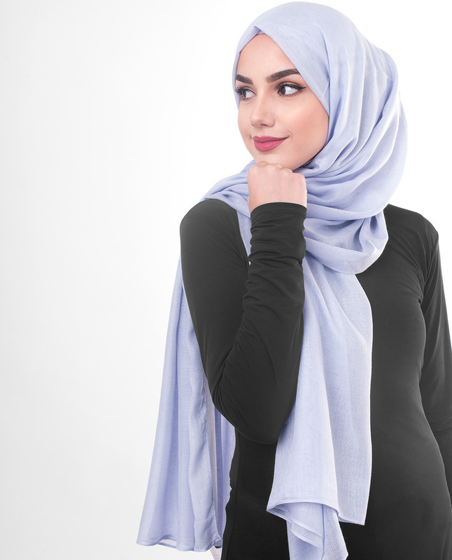 Purple summer hijab scarf