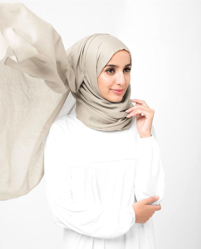 beige cotton hijab scarf
