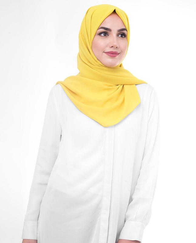 Yellow hijab style scarf