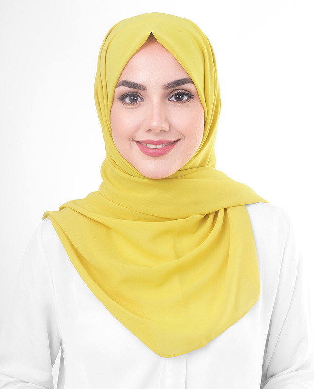 yellow hijab scarf