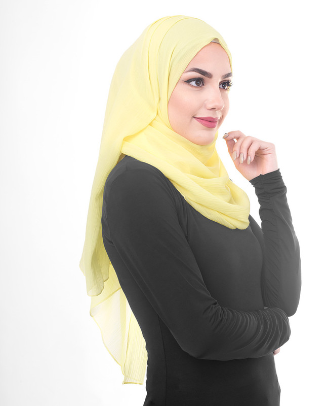 Yellow hijab outfit scarf