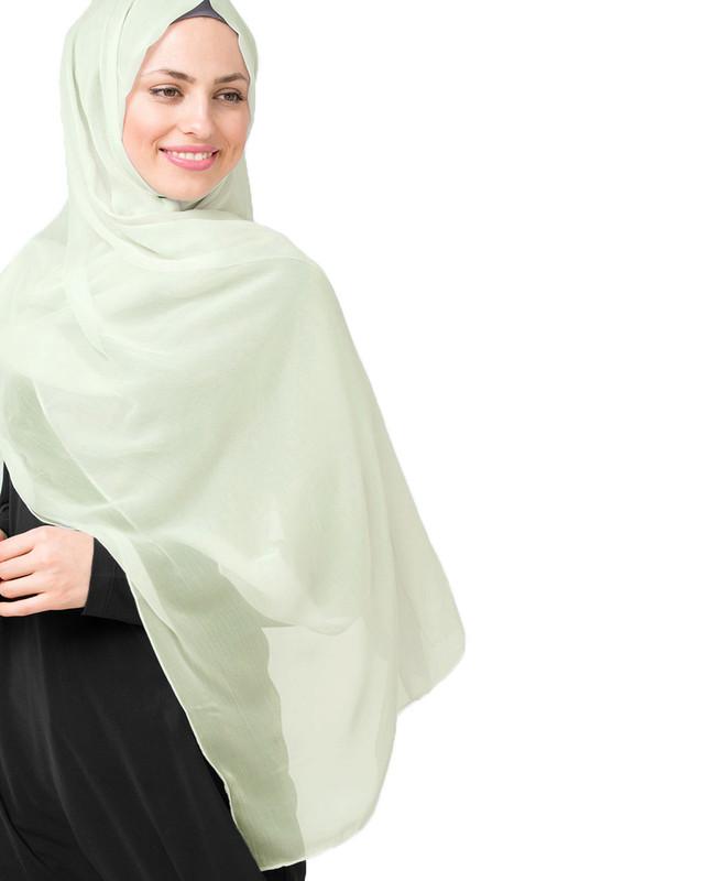 Green woven hijab scarf