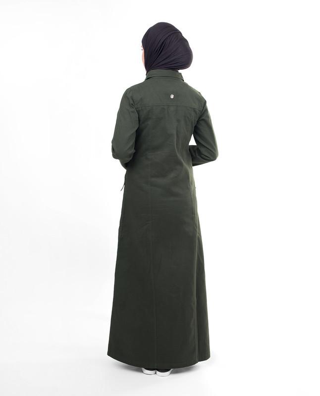 Military green abaya jilbab