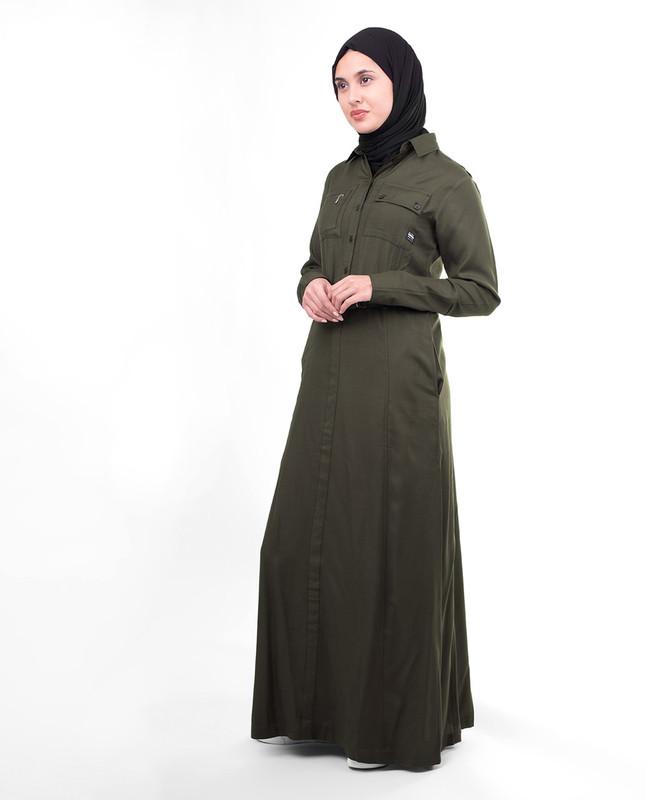 Front open jilbab abaya