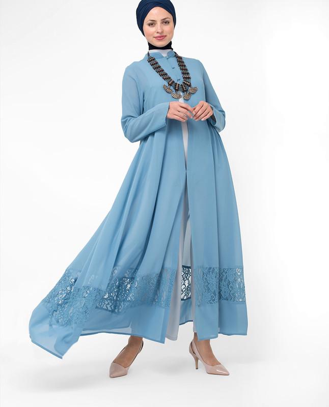 Outstanding Oceanic Blue Outerwear